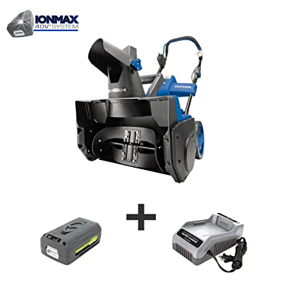 Snow Joe iON18SB 40-Volt iONMAX Cordless Brushless Single Stage Snowblower Kit