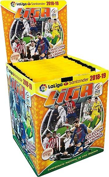 Panini - Caja 50 Sobres Liga Este 18/19: Amazon.es: Juguetes y juegos
