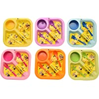 Kids Trends Minion Square Plates for,Return Gifts for Kids Birthday Party (Pack of 6)