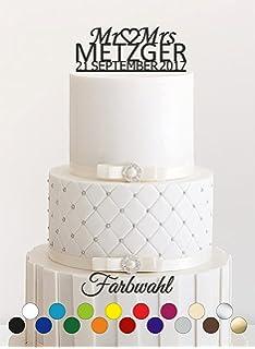 Personalisierte Custom Mr Mrs Hochzeit Tortenaufsatz Mit Ihrer