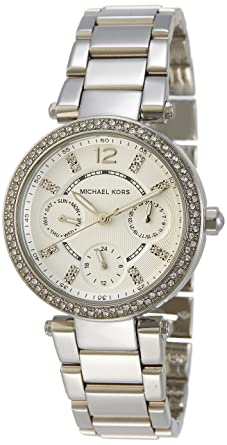 6904f4aba67d Image Unavailable. Image not available for. Color  Michael Kors Women s  MK5615 Parker Silver Watch