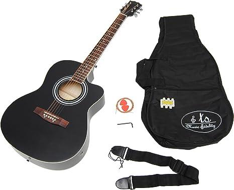 ts-ideen 4505 - Kit de guitarra acústica (4/4, afinador con pantalla ...