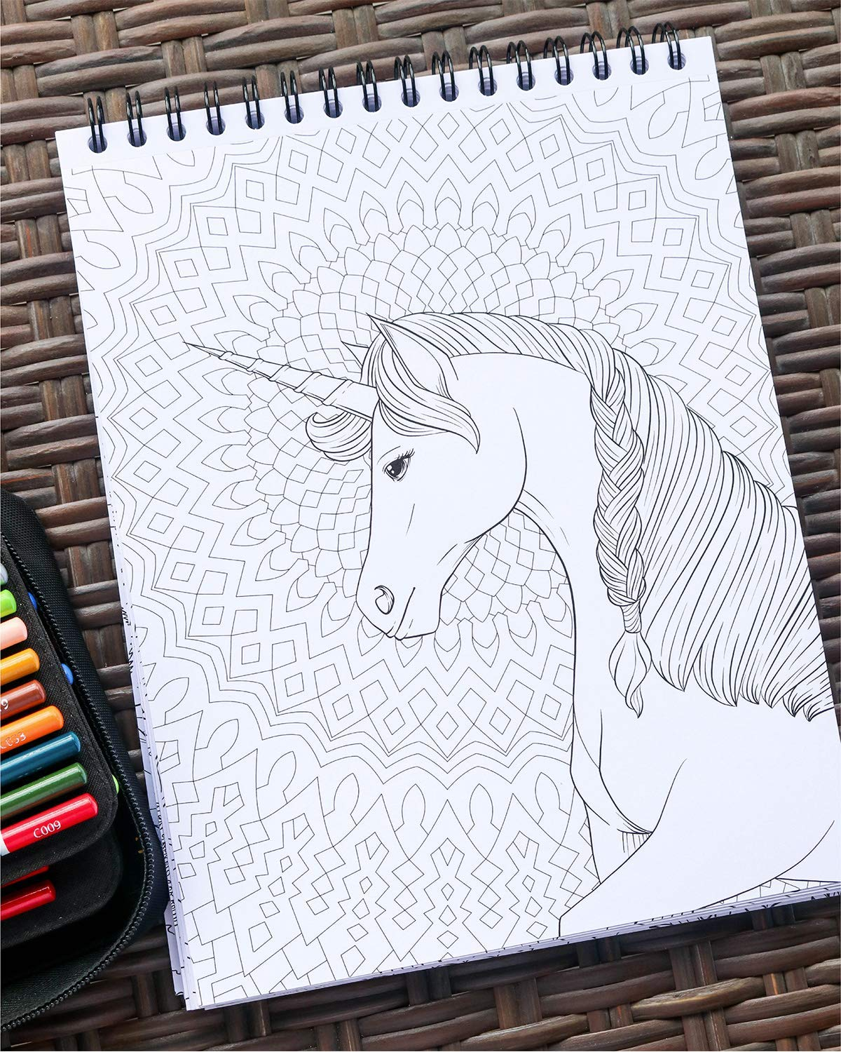 ColorIt Colorful Unicorns Adult Coloring Book - 50 Single-Sided Pages, Thick Smooth Paper, Lay Flat Hardback Covers… 7