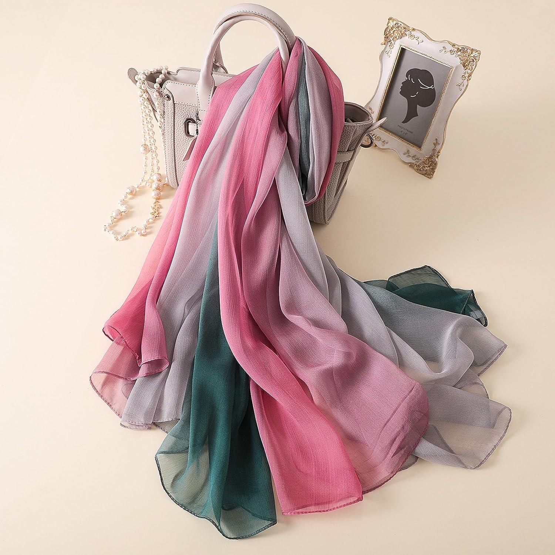 PLECUPE Sommerschals Damen Schal Mode Design Lange Chiffon Scarf Wrap Fr/ühlingsschal Sommer Accessoire Shawl Seide Beach Scarves f/ür Geschenk,