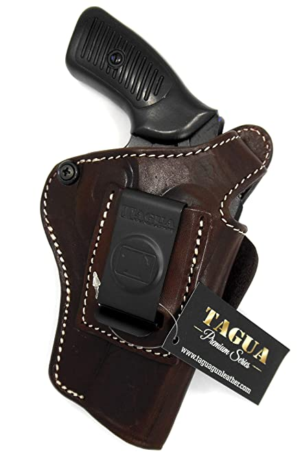 4 IN 1 IWB /& OWB LEATHER HOLSTER FOR S/&W SHIELD INSIDE THE PANT.