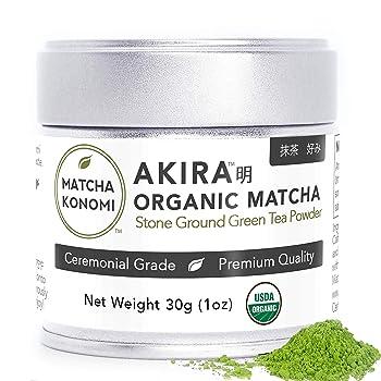 Akira Matcha Organic Premium Ceremonial Japanese Matcha Green Tea Powder