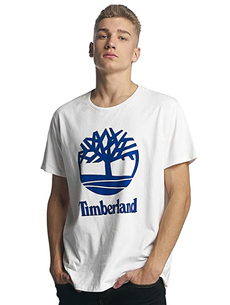 Timberland Hombres Ropa Superior/Camiseta Linear Basic Stacked ZpuBc4