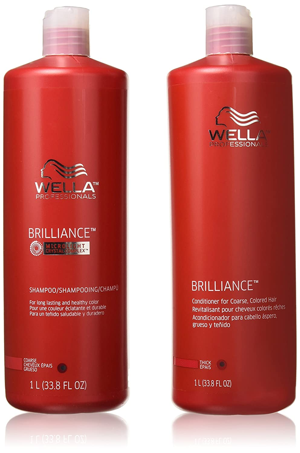 2. Wella Brilliance Shampoo and Conditioner Coarse Colored Hair - Best Shampoo for Smoothing Coarse Hair