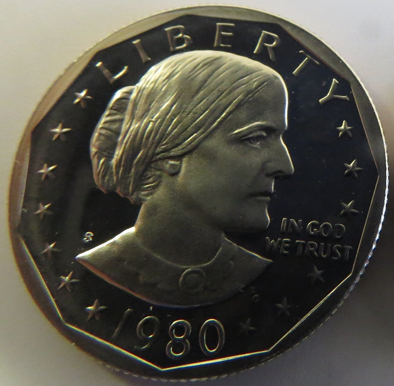 1980 S Susan B. Anthony Proof Dollar Dollar Perfect Uncirculated US Mint Frank Gasparo
