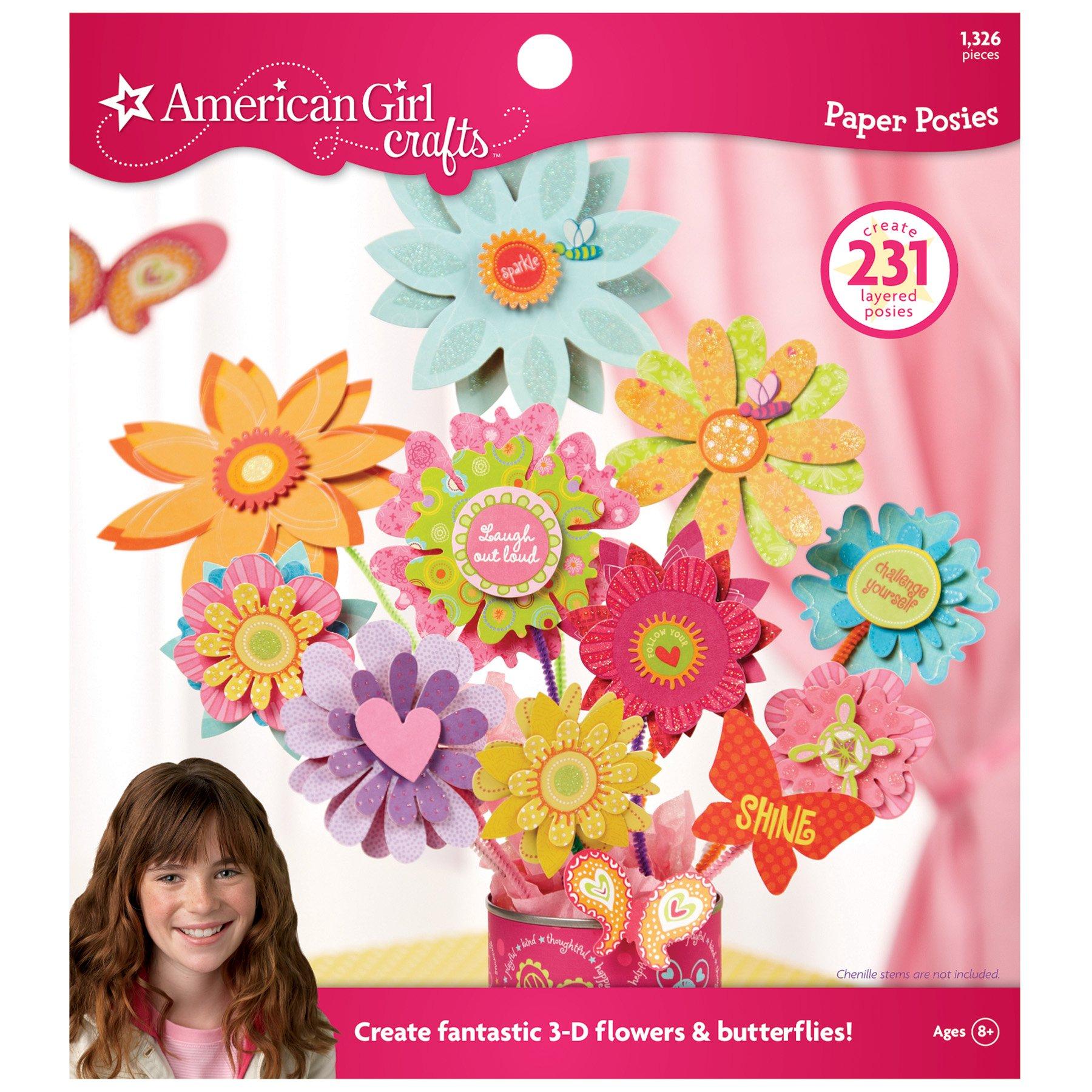 American Girl Crafts Paper Flower Posies Activity Kit, 1326pc by American Girl Crafts