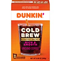 Dunkin' Cold Brew Ground Coffee Packs, 8.46 Ounces (Packaging May Vary)