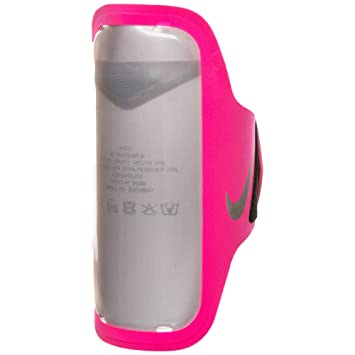 e0b37a76f423a Nike Women's Ventilated Armband Bracelet, Hyper Pink/Wolf Grey, One ...