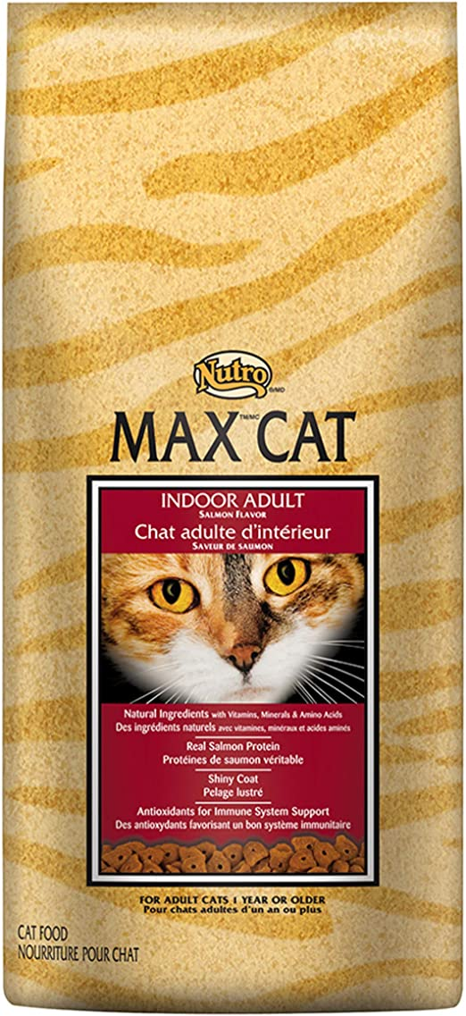 NUTRO MAX CAT Indoor Adult Salmon Flavor Dry Cat Food 6 Pounds by ...