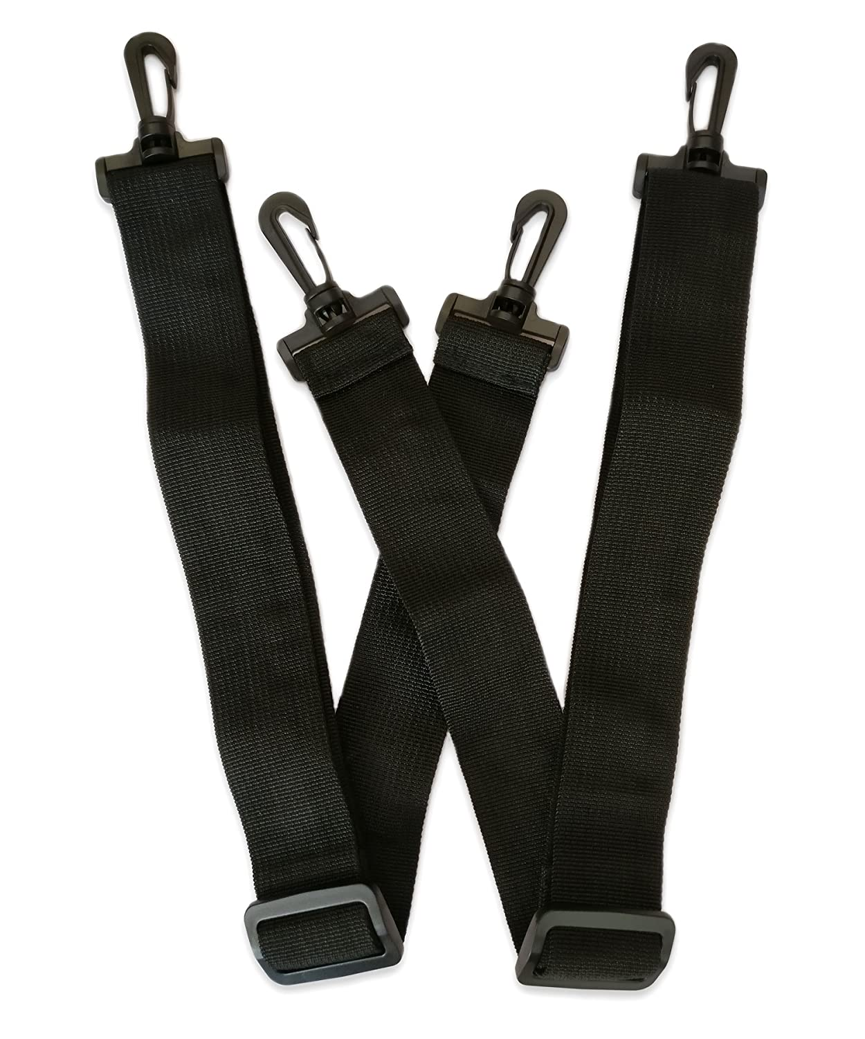 Bag Strap Duffle Bag Straps for Luggage Shoulder Strap Replacement Black 2-Pack by SUPERSINGULARITY