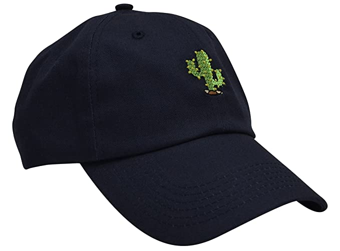 90b93119a3952 Skyed Apparel Cactus Embroidery Adjustable Baseball Cap Baseball Hat Dad Hat  (Dark Blue)