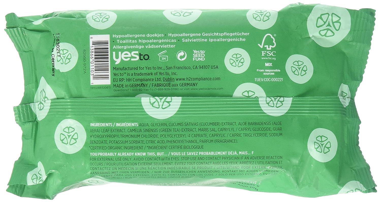 Yes To - pepinos toallitas Facial resplandor Natural - 30 Towelette(s): Amazon.es: Belleza