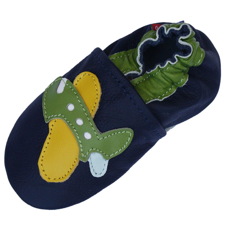 Chaussures B/éb/é Semelle Souple Fille Green Airplane Dark Blue Carozoo Bleu Profond de lavion