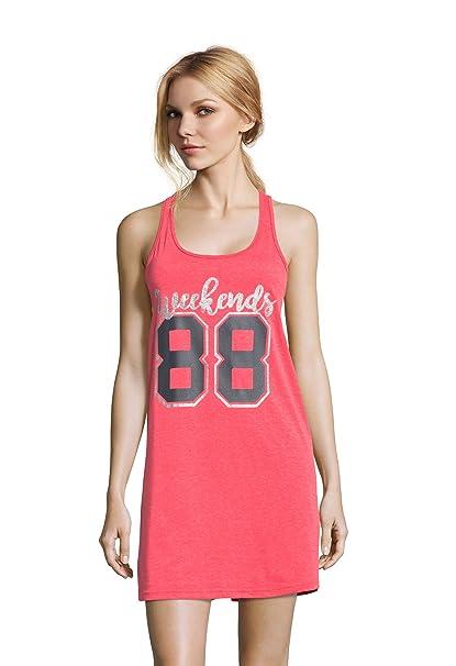 3b37b36d7f5 Sleep   Co. Womens Sleeveless Scoop Neck Pajama Sleepshirt at Amazon ...