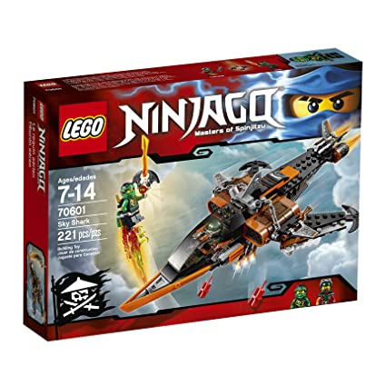 Amazon.com: LEGO Ninjago tiburón aéreo 70601 TRG, Multi ...