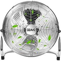 OZAVO Standventilator, Windmaschine ⌀39/50/56 cm mit 3 Laufgeschwindigkeiten, Bodenventilator Power, Tischventilator Metall, Luftkühler, verstellbare Neigungswinkel, 45/80/100 W (⌀39cm)