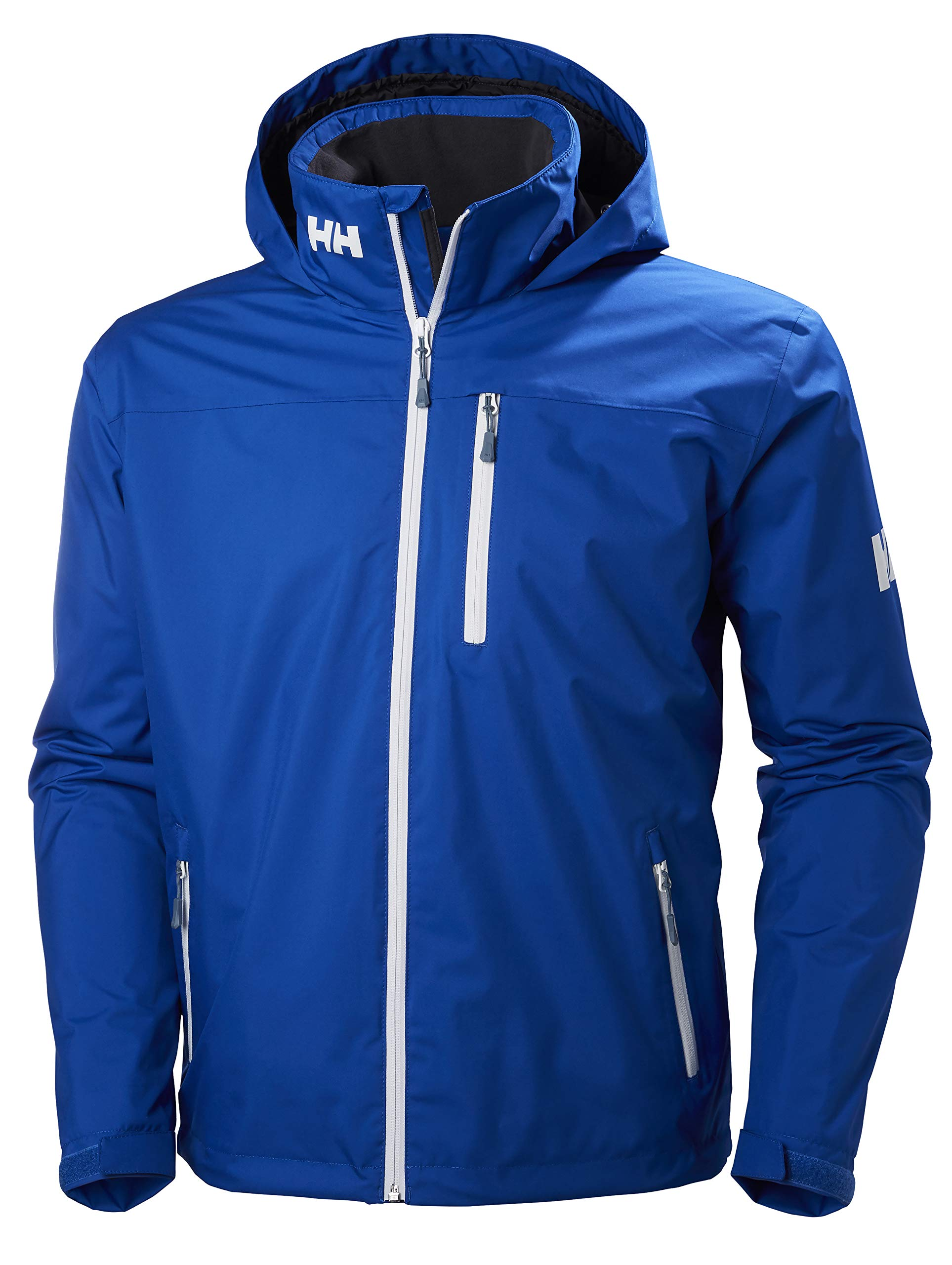 Helly Hansen Men's Crew Hooded Midlayer Jacket, 563 Olympian Blue, 4X-Large by Helly Hansen