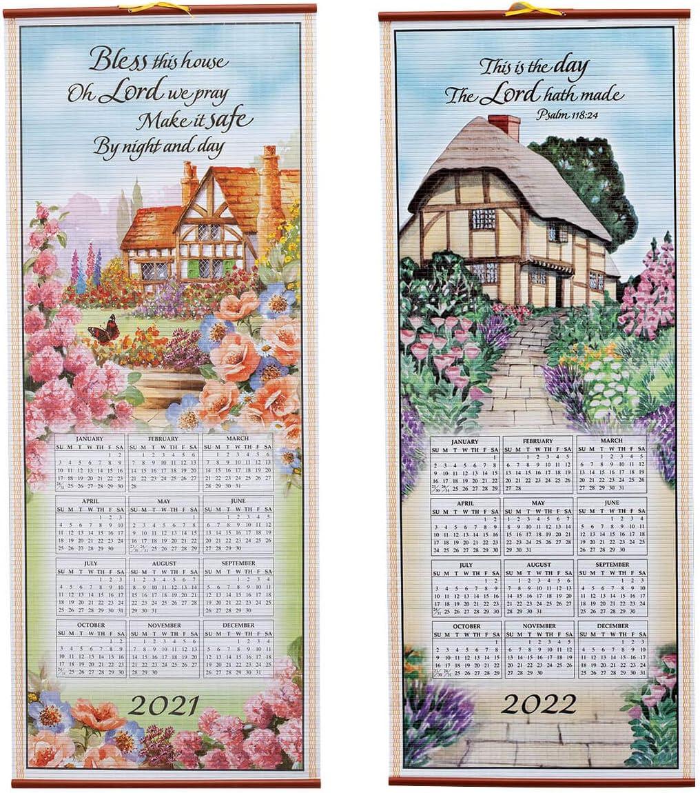 Uw 2021-2022 Calendar Amazon.: Dual Sided 2 Year Scroll Calendar, Bless This House