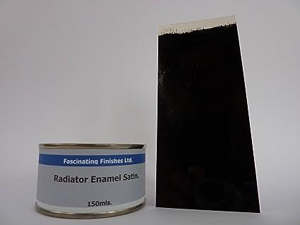 1 x 150 ml negro satén radiador pintura resistente al calor