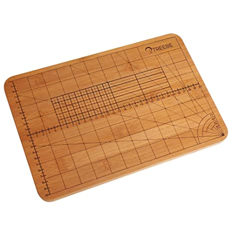 Treebe - Tagliere da cucina in bambù con misure per tagliare con ...