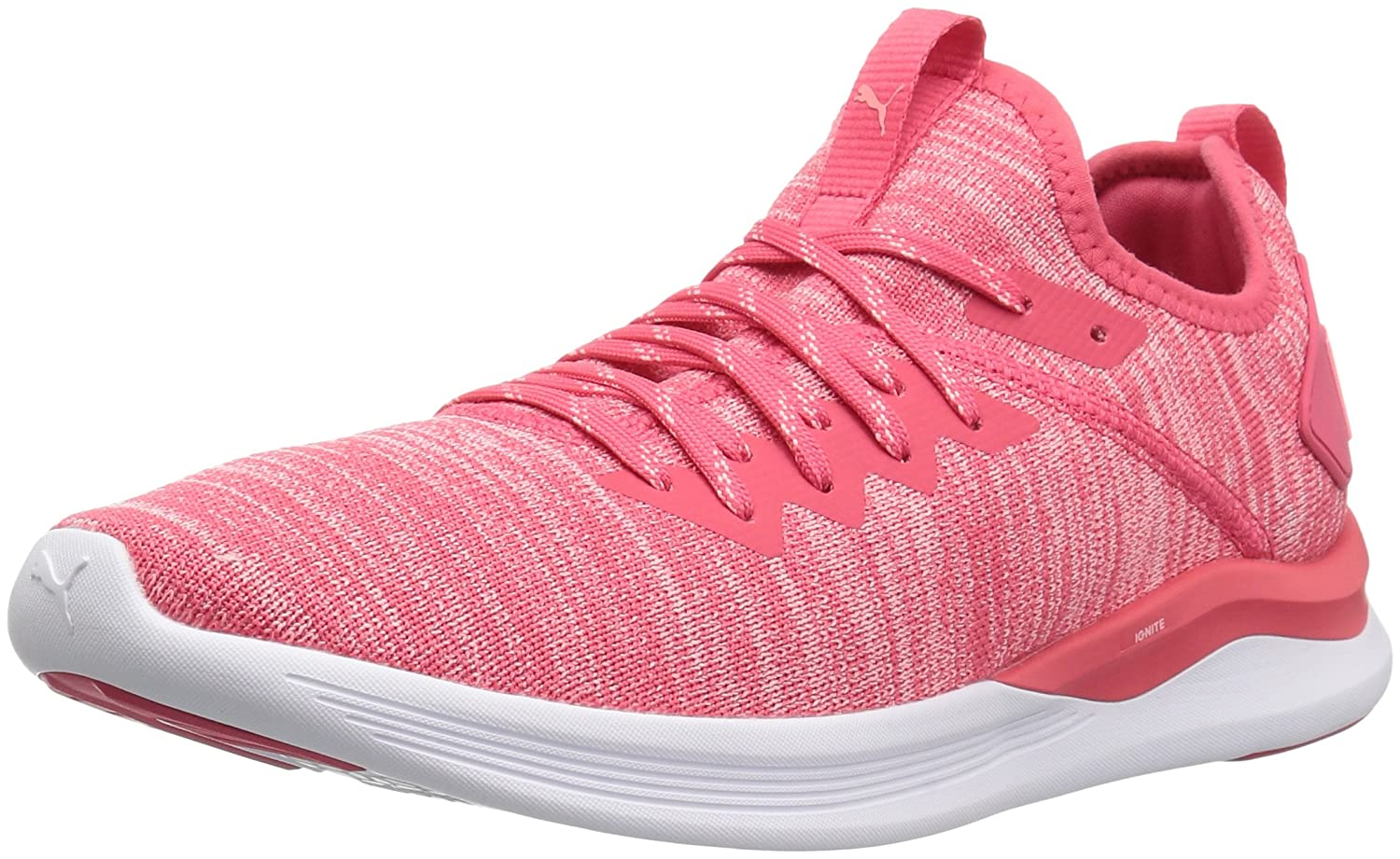 PUMA Women's Ignite Flash Evoknit Wn Sneaker B0721KG7HY 9.5 M US|Paradise Pink-soft Fluo Peach