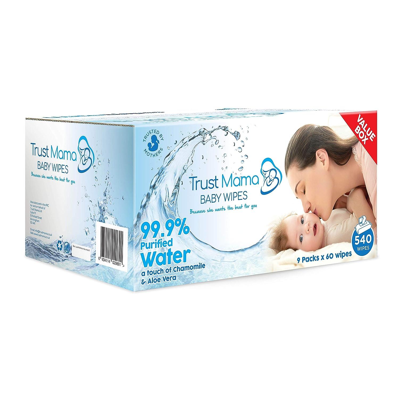 720 Wipes 12 Packs of 60 Wipes WaterWipes Baby Wipes Sensitive Newborn Skin