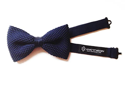 Knot Theory Navy Blue Knit Bow Tie At Amazon Mens Clothing Store