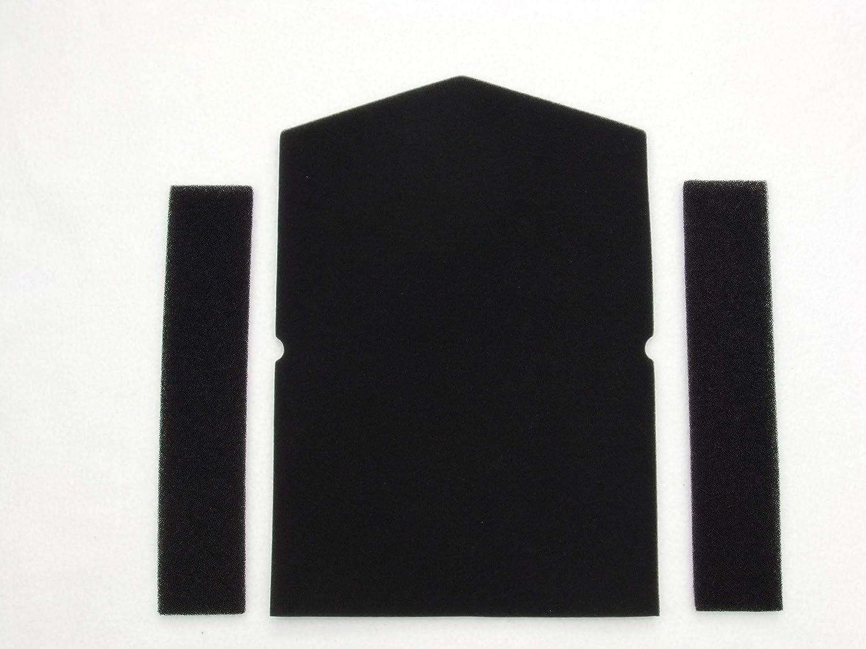 Juego de filtros para aspiradora Miele 6057930 y 968381, filtro de esponja, secador de bomba de calor, filtro de secadora, filtro de condensación, filtro de espuma para puerta