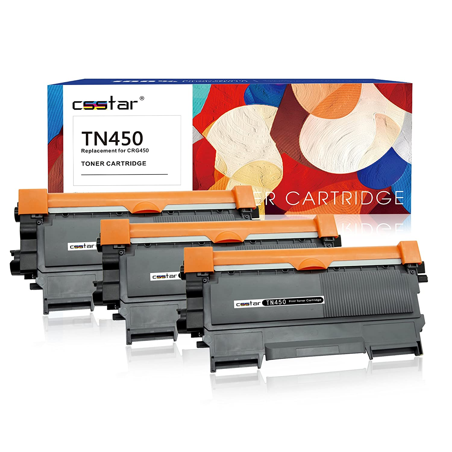 3 Pack Black Laser Toner For Brother TN450 TN420 DCP-7065DN MFC-7460DN MFC-7240