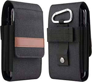 LBYZCASE Cell Phone Carrying Pouch Belt Clip Holder for [iPhone 12 Mini/SE 2020/iphone 11 Pro/iPhone 8/7/6/iPhone XS/X][Samsung Galaxy S20/S10/S10e/S9/S8/S7/S6/S5]-Black