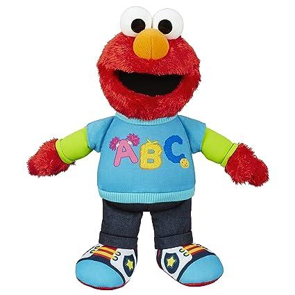 Amazon Com Sesame Street Talking Abc Elmo Figure Toys Games