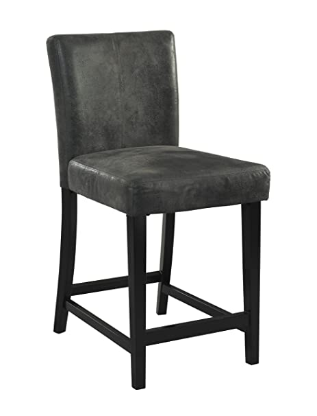 Prime Linon Home Dcor Linon Morocco Charcoal Bar Height Stool 17 72Wx 23 03Dx 43 31H Black Gmtry Best Dining Table And Chair Ideas Images Gmtryco