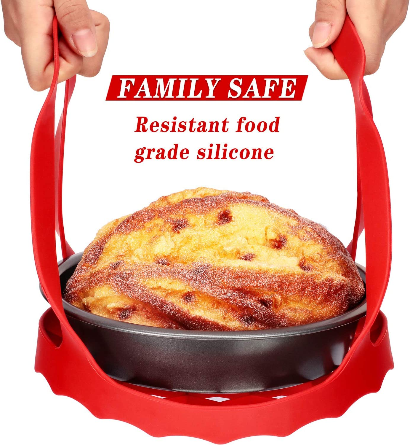 Silicone Pressure Cooker Sling Egg Bakeware Lifter and Egg Bites Mold Egg Bite Pan with Lid Compatible with Most Multi-Function Cookers
