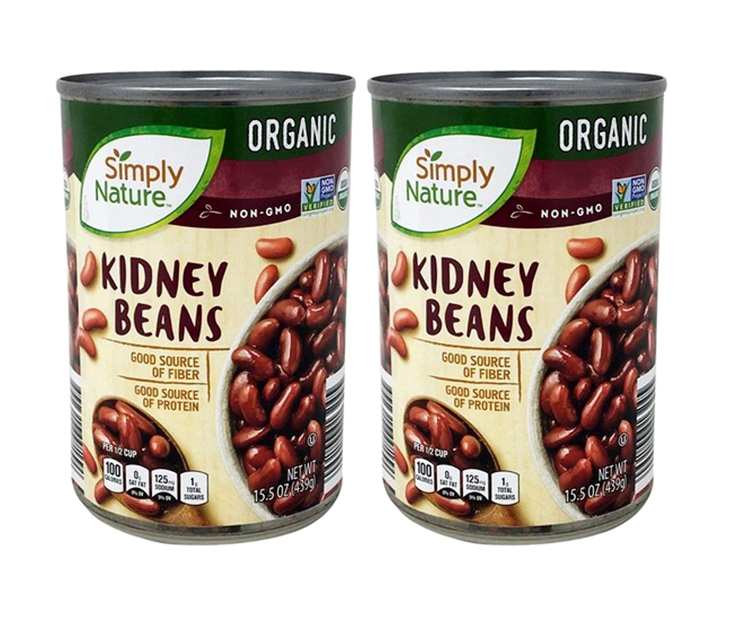 Amazon Com Simply Nature Usda Organic Kidney Beans 2 Cans 15 5 Oz Grocery Gourmet Food