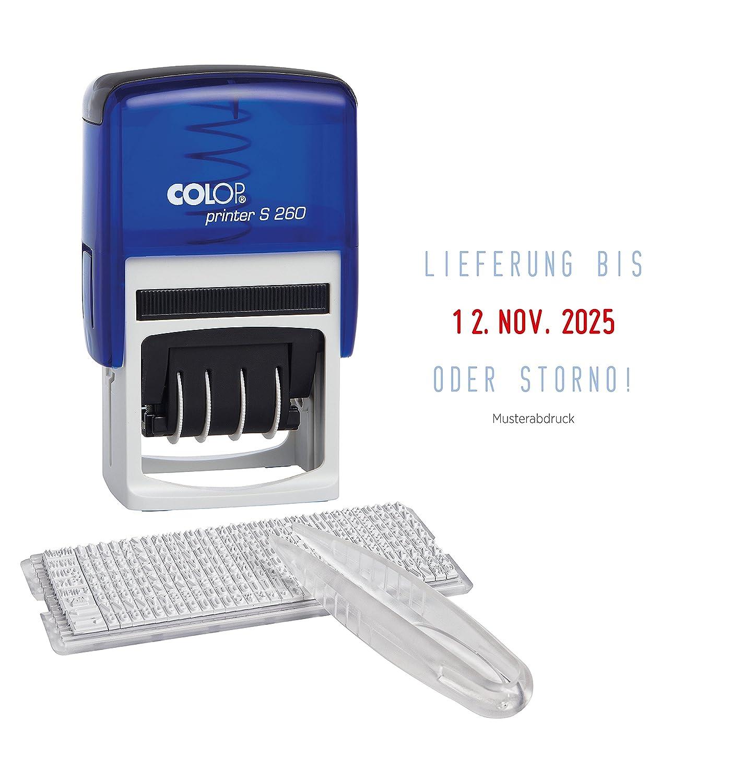Colop 105735 Printer S 260 Set con Sello para sí setzen con Set fecha centrada fb69ba