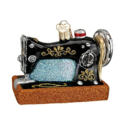Amazon Old World Christmas Ornaments Sewing Machine Glass Cool Animal Crossing Sewing Machine
