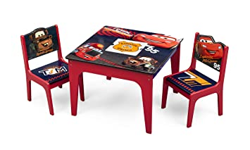 Amazon.com: Delta Children Deluxe Table & Chair Set with Storage ...
