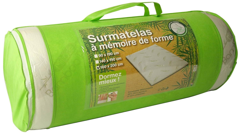 Surmatelas A Memoire De Forme Anti Allergique Fibre De