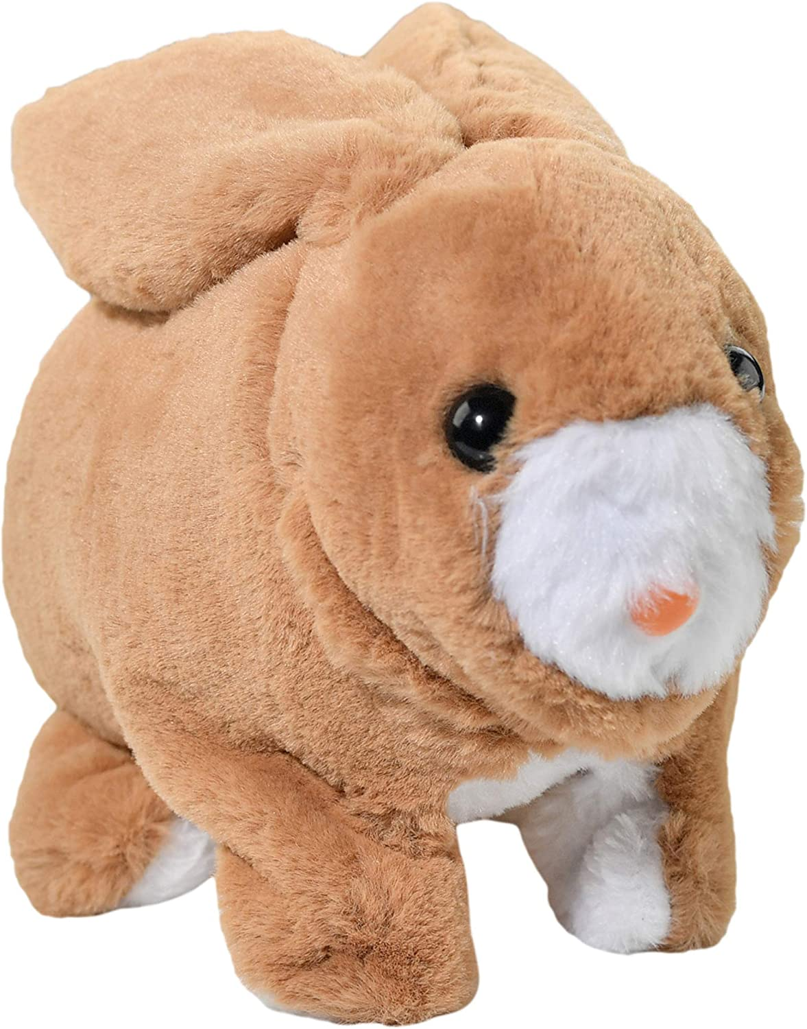 Home-X Brown Rabbit, Electric Rabbit Toy, Interactive Pets, Stuffed Animals