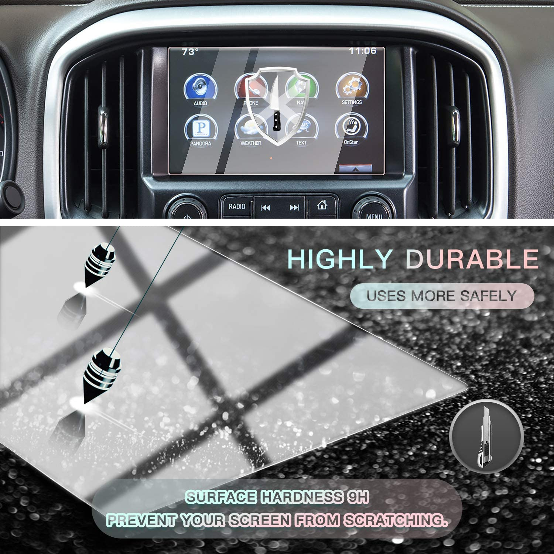2016-2018 Sierra 7IN CDEFG Car Screen Protector Center Control Navigation Screen Protector for 2016 2017 2018 GMC Sierra 1500// Sierra 2500HD// Sierra 3500HD Tempered Glass HD Scratch Resistance