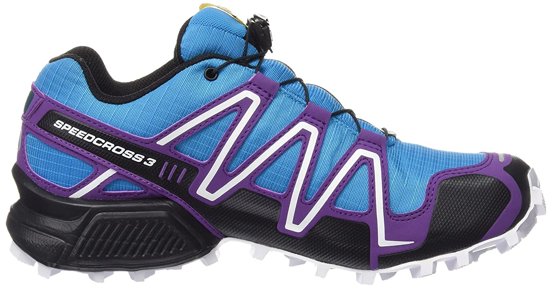 Salomon Damen Speedcross 3 GTX Traillaufschuhe, Blau (Scuba Blue/Cosmic Purple/Black), 40 2/3 EU