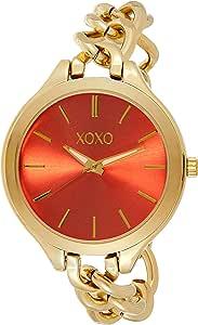 XOXO Womens Quartz Watch, Analog Display and Stainless Steel Strap XO5868