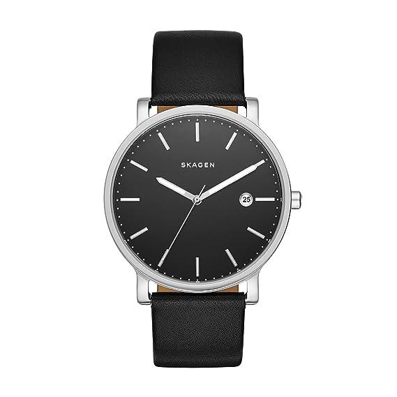 Skagen Reloj analogico para Hombre de Cuarzo con Correa en Piel SKW6294: Amazon.es: Relojes