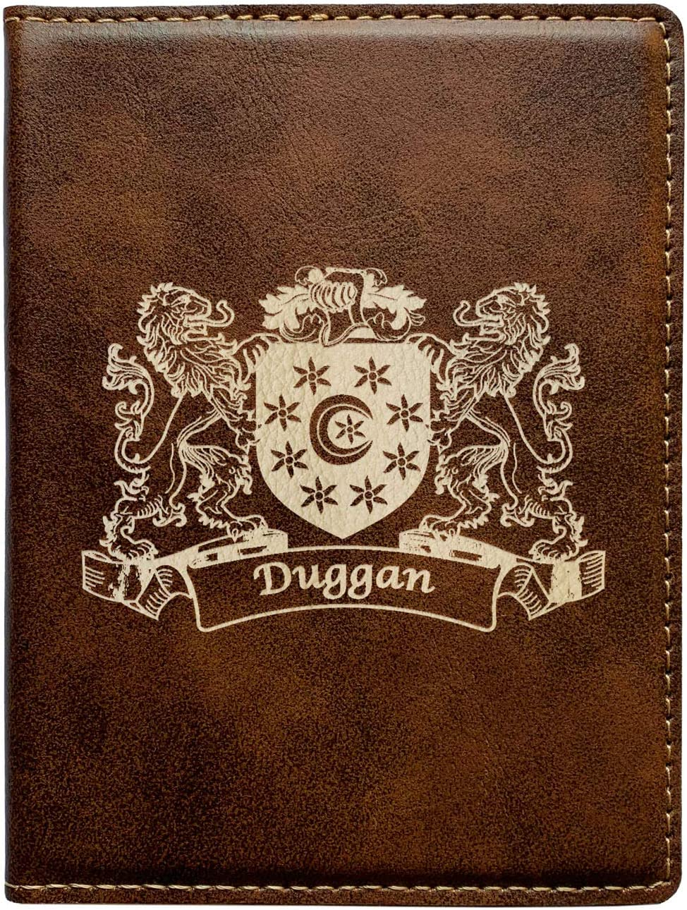 Duggan Irish Coat of Arms Leather Passport Wallet