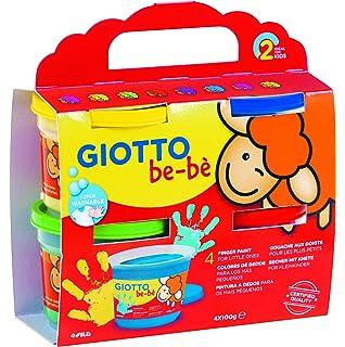 Giotto Fila Cf 6 Barattoli 100ml Dita Tempere Artistiche Gioco
