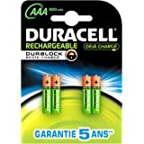 Duracell - Pile Rechargeable - Duralock - AAAx4 Stay Charged 800mah (HR03)